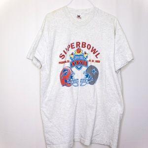 Fruit of the Loom Tshirt Super Bowl XXVII 1993 Siz